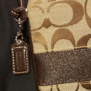 Coach Bags - Small authentic Brown Coach Wristlet